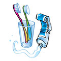 Teeth cleaning Royalty Free Stock Image