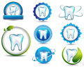 Teeth health care healthy symbol collection clean and bright designs beautiful color combinations Stock Photography