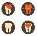 Teeth health care icons dental symbols collection beautiful colorful designs medical Stock Images