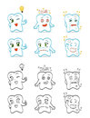 Teeth an illustration of different cartoon characters Royalty Free Stock Photography