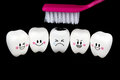 Teeth toy smile and cry emotion Royalty Free Stock Photo