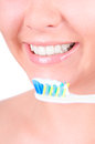 Teeth whitening. Dental care Royalty Free Stock Images
