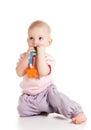 Teething baby Royalty Free Stock Photo