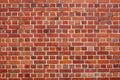 Tegelstenredvägg Arkivbild