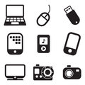 Tehnology icons this image is a vector illustration and can be scaled to any size without loss of resolution Stock Photography