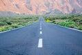 Teide  ороги к Стоковое Изображение
