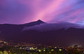 Teide Mountain at Sunset Stock Photo