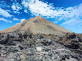 Teide national park in tenerife at canary islands roques de garcia Royalty Free Stock Images