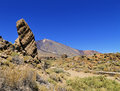 Teide national park tenerife canary islands spain Royalty Free Stock Images