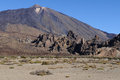 Teide volcano plain Royalty Free Stock Photo