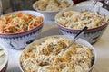 Teigwaren salat Stockfotos