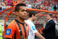 Teixeira alex forward of football club shakhtar donetsk before a match metalurh d premier league donbass arena Stock Images