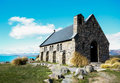 Tekapo church   new zealand Royalty Free Stock Photo