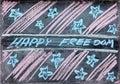 Tekening van onafhankelijkheidsdag Stock Foto's