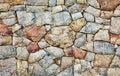 Tekstury naturalna szorstka kamienna ściana Fotografia Royalty Free