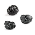 Tektite meteorite isolated on white background Stock Image