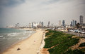 Tel aviv beach panorama israel Stock Photography