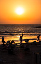Tel aviv beach sunset israel a over the boardwalk Stock Images