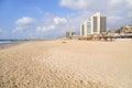 Tel Aviv beach. Royalty Free Stock Photo