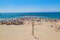 Tel Aviv Metzitzim beach Royalty Free Stock Photo