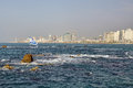 Tel aviv panorama israel from see Royalty Free Stock Images