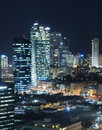 The Tel aviv skyline - Night city Stock Image
