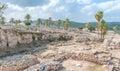 Tel Megiddo ruins Royalty Free Stock Photo