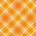 Tela anaranjada de la tela escocesa de tartán Fotografía de archivo libre de regalías
