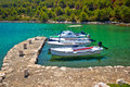 Telascica bay on Dugi Otok island boats Royalty Free Stock Photo