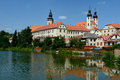Telc czech republic the historic town of in Royalty Free Stock Photo