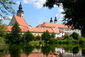 Telc czech republic the historic town of in Stock Image