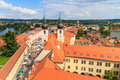 Telc view on old town a unesco world heritage site czech republic Royalty Free Stock Photos
