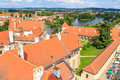 Telc view on old town a unesco world heritage site czech republic Stock Image