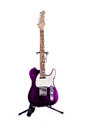 Telecaster Style Guitar Purple Royalty Free Stock Photo