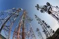 Telecom pole Royalty Free Stock Photo