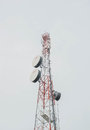 Telecom tower background Royalty Free Stock Image