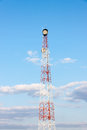 Telecom tower and blue sky Royalty Free Stock Image