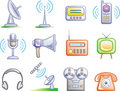 Telecom - Vector Icons Set Royalty Free Stock Photo