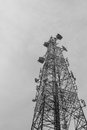 Telecommunication antenna for radio, television and telephone Royalty Free Stock Photo