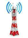 Telecommunication antenna tower creative abstract digital cellular technology and wireless connection business concept mobile base Stock Photos
