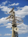 Telecommunication dishes used for cell phone radio and tv emissions Stock Photography