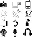 Telecommunication icons illustrations of icon is isolated on white background created in illustrator software Royalty Free Stock Images