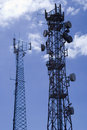 Telecommunication masts2 Royalty Free Stock Photography