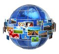 Telecommunication and media technologies concept Stock Images