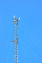 Telecommunication post for mobile phone with clear sky Royalty Free Stock Photos