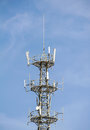 Telecommunication tower in the outside Stock Photography