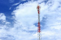 Telecommunication tower used to transmit mobile phone signals Royalty Free Stock Image