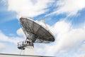Telecommunications radar parabolic radio antenna Royalty Free Stock Photo