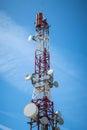 Telecommunications tower Royalty Free Stock Photo