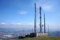 Telecommunications tower on a sunny day Stock Photography
